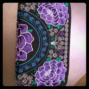 Free People Floral Embroidered Clutch/Wallet